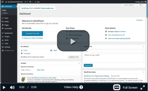 Video showing how to build a WordPress website in 5 minutes