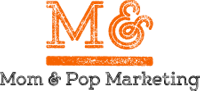 Mom & Pop Marketing Orange Logo